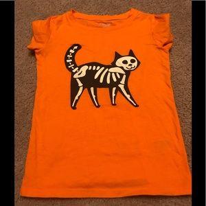 Glow N Dark Halloween Cat Shirt